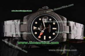 Rolex Pro-Hunter TriROL1438 Explorer II Black Dial PVD Watch