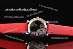 Chopard Trichp283 Happy Sport - Mickey Red Satin Steel Watch