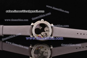 Chopard Trichp285 Happy Sport - Mickey Gray Satin Steel Diamond Watch
