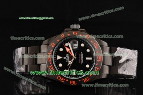 Rolex Pro-Hunter TriROL1440 Explorer II Black Dial PVD Watch