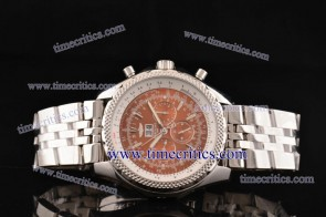 Breitling TriBrlb017 Bentley 6.75 Brown Dial Steel Watch