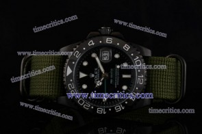 Rolex Pro-Hunter TriROL1444 GMT-Master Black Dial PVD Watch