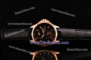 Corum TriCOR077 Admirals Cup Black Dial Rose Gold Watch
