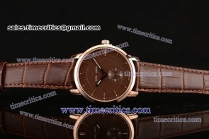 Ulysse Nardin TriUN200 Classico Brown Dial Rose Gold Watch