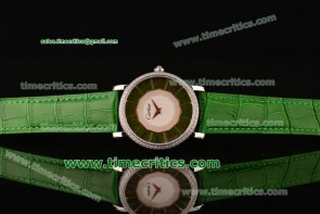 Cartier TriCAR88036 D'Art Green Dial Steel Watch
