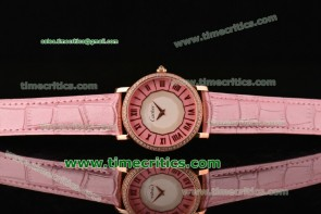 Cartier TriCAR88037 D'Art Pink Dial Rose Gold Watch