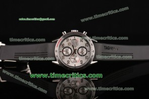 Tag Heuer Carrera Day Date Calibre 16 CV2A11.FC6235 White Dial Black Rubber Strap Steel Watch