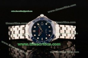 Omega TriOGA89010 Seamaster Diver 300 M Blue Dial Steel Watch (BP) 1:1 Original Best Edition