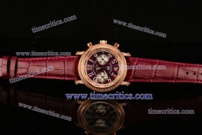 Franck Muller TriFM99005 Freedom Burgandy Dial Rose Gold Watch