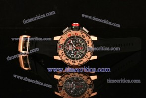 Richard Mille Chrono TriRM99027 RM032 Skeleton Dial Rose Gold Watch