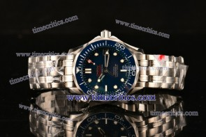 Omega TriOGA89051 Seamaster Diver 300 M Co-Axial 1:1 Original Blue Dial Steel Watch