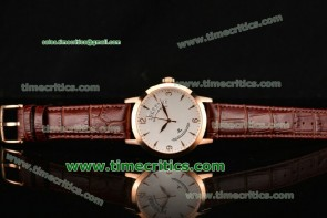 Jaeger-LECoultre TriJL99028 Master White Dial Rose Gold Watch