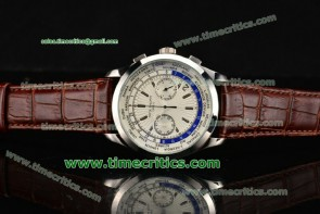 Patek Philippe TriPP89010 Complicated World Time Chrono White Dial Steel Watch