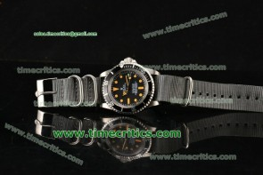 Rolex TriROX89048 Submariner Vintage Black Dial Orange Markers Steel Watch