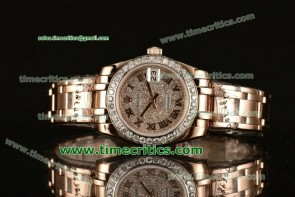 Rolex TriROX89064 Datejust Pearlmaster 39mm Diamonds Dial Diamond Bezel Rose Gold Watch