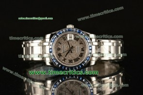 Rolex TriROX89065 Datejust Pearlmaster 39mm Diamonds Dial Sapphire Bezel Steel Watch
