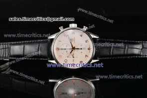 Tag Heuer TriTAG89025 Carrera Callbre 1887 Chrono White Dial Steel Watch