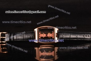 Corum TriCM89024 Golden Bridge Black Dial Rose Gold Watch