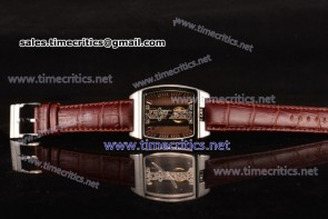 Corum TriCM89026 Golden Bridge Brown Dial Steel Watch