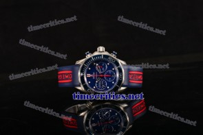 Omega TriOGA89084 Seamaster Diver 300M Co-Axial Chrono Blue Dial Steel Watch