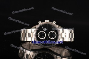 Tag Heuer TriTAG89036 Carrera Calibre 1887 Automatic Chronograph Black Dial Full Steel Watch