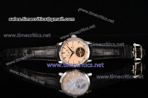 Vacheron Constantin TriVC89003 Patrimony Tourbillon Beige Dial Black Alligator Steel Watch