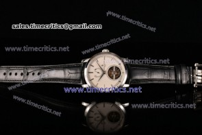 Vacheron Constantin TriVC89004 Patrimony Tourbillon White Dial Black Alligator Steel Watch