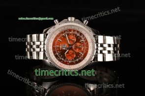 Breitling TriBRL89064 Bentley 6.75 Speed Red Dial Full Steel Watch