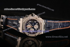 Audemars Piguet TriAP89205 Royal Oak Offshore Chrono Navy Blue Themes Blue Dial Steel Watch (JF)