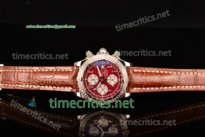 Breitling TriBRL89080 Chronomat Evolution Chronograph Red Dial Steel Watch (BP)