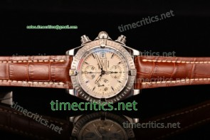 Breitling TriBRL89081 Chronomat Evolution Chronograph White Dial Steel Watch (BP)
