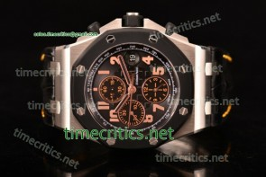 "Audemars Piguet TriAP89245 Royal Oak Offshore ""57th Street"" Rubberclad Bezel JF Best Edition Chrono Black Dial Steel Watch (JF)"