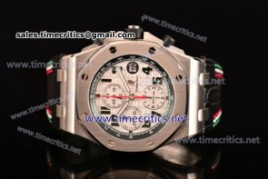 "Audemars Piguet TriAP89248 Royal Oak Offshore ""Pride of Mexico"" Best Edition Chrono White Dial Steel Watch (JF)"