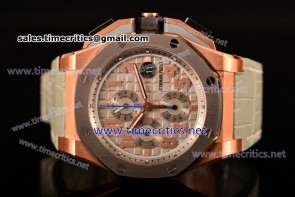 Audemars Piguet TriAP89250 Royal Oak Offshore Chronograph Lebron James Limited Edition Grey Dial Grey Leather Rose Gold Watch (J12)