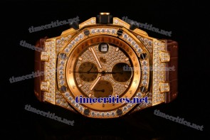 Audemars Piguet TriAP89254 Royal Oak Offshore Chronograph Diamonds Dial Yellow Gold/Diamonds Watch (NOOB)