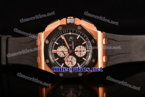 Audemars Piguet TriAP89251 Royal Oak Offshore Chronograph Black Dial Black Rubber Rose Gold Watch (NOOB)