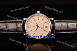 IWC TriIWC89102 Portofino White Dial Rose Gold Markers Steel Watch