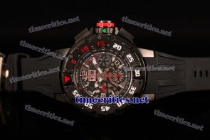 Richard Mille TriRM99094 RM 032 Chrono Skeleton Dial Black Rubber PVD Watch