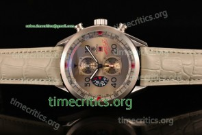 Tag Heuer TriTAG89062 Carrera Calibre 1887 50th Anniversary Limited Edition Chrono Grey Dial Steel Watch