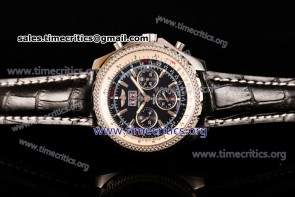 Breitling TriBRL89115 Bentley 6.75 Speed Chrono Black Dial Black Leather Steel Watch (GF)