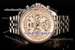 Breitling TriBRL89117 Bentley 6.75 Speed Chrono White Dial Full Steel Watch (GF)