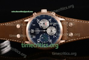 Tag Heuer TriTAG89103 Carrera Specail Edition Chrono Blue Dial Brown Leather Rose Gold Watch