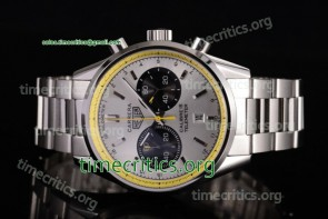 Tag Heuer TriTAG89122 Carrera Calibre 18 Chronograph White Dial Full Steel Watch
