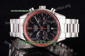 Tag Heuer TriTAG89123 Carrera Calibre 18 Chronograph Black Dial Full Steel Watch