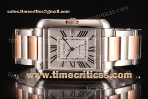 Cartier TriCAR89336 Tank Anglaise Silver Dial Two Tone Watch