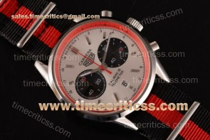 Tag Heuer TriTAG89128 Carrera Calibre 18 Chrono CAH1112.FC8194Q White Dial Red Inner Bezel Black/Red Nylon Steel Watch
