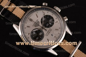 Tag Heuer TriTAG89129 Carrera Calibre 18 Chrono CAR221A.FC6354M White Dial Black/Yellow Nylon Steel Watch