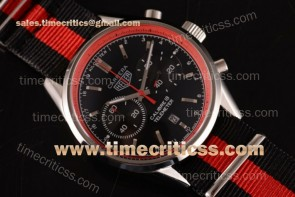 Tag Heuer TriTAG89131 Carrera Calibre 18 Chrono CAH1112.FC8193A Black Dial Red Inner Bezel Black/Red Nylon Steel Watch