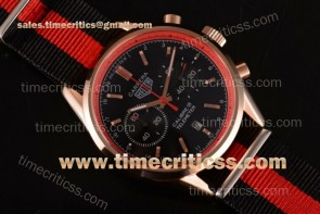 Tag Heuer TriTAG89133 Carrera Calibre 18 Chrono CAR221A.FC6355D Black Dial Red Inner Bezel Black/Red Nylon Rose Gold Watch