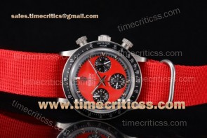 Rolex TriROX89410 Daytona Vintage Chrono Red Dial Steel Watch
